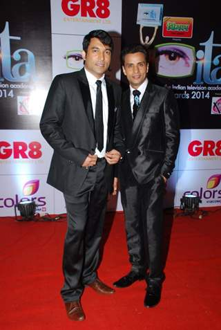 Chandan Parbhakar & Rajiv Thakur were at the ITA Awards 2014