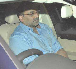 Aditya Chopra was snapped outside Ravi Chopra's house