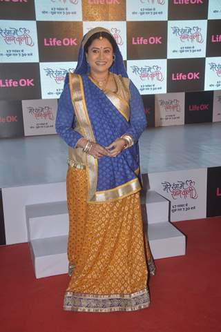Suchitra Bandrekar poses for the media at the Launch of Mere Rang Mein Ranganewali