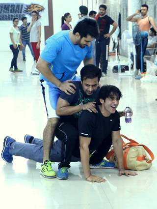 Fun during the Practise Sessions of BCL Team Kolkata Baabu Moshayes