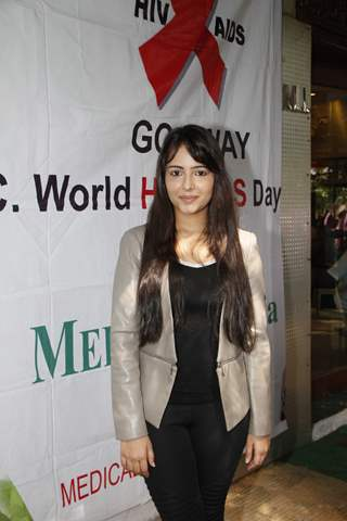 Aanchal Munjal poses for the media at Medscape India AIDS Awareness Event