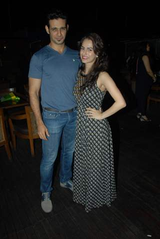 Viraf Phiroz Patel and Kashmira Irani pose for the media at Vahbbiz Dorabjee Dsena's Birthday Bash