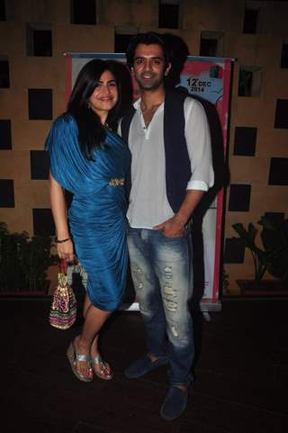 Shenaz Treasurywala and Barun Sobti at Main Aur Mr. Riight's Bash