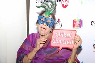 Usha Nadkarni strikes a quirky pose at India-Forums 11th Anniversary Bash