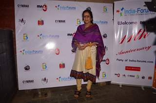 Usha Nadkarni poses for the camera at India-Forums 11th Anniversary Bash