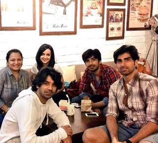 Mohit Sehgal with Sanaya Irani and Barun Sobti