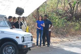 Anushka Sharma was snapped at the Promotions of NH10 on Savdhaan India