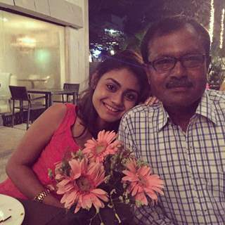 Sreejita De with Her Dad