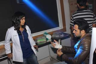 Emraan Hashmi and Abigail Jain snapped in conversation at the Promotions of Mr. X on Zindagi Wins