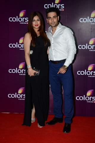 Vivian Dsena and Vabhiz Dorabjee Dsena at Color's Party