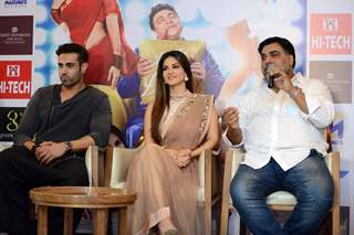 Navdeep Chhabra, Sunny Leone and Ram Kapoor at Promotions of Kuch Kuch Locha Hai in Delhi