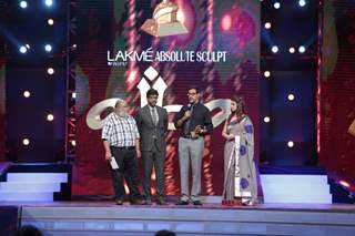 Saurabh Shukla, Javed Jaffery and Rajaat Kapoor at AIBA Awards!