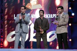 Rajat Kapoor, Nikhil Dwivedi and Ali Fazal at AIBA Awards
