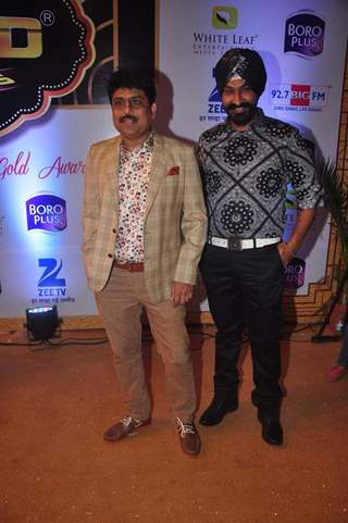 Shailesh Lodha and Gurucharan Singh at Gold Awards