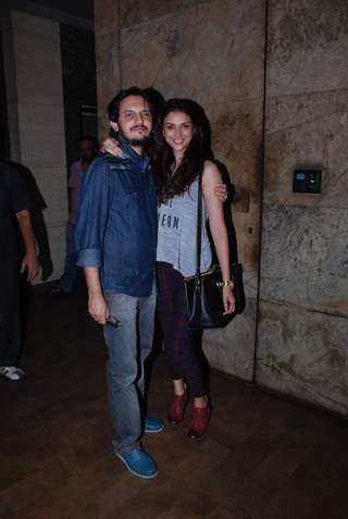 Vishesh Bhatt and Aditi Rao Hydari at the Special Screening of Hamari Adhuri Kahani