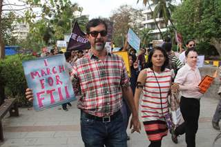 Rajat Kapoor Protests for FTII Cause