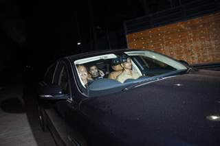 Karan Johar was snapped at the Special Screening of Bahubali