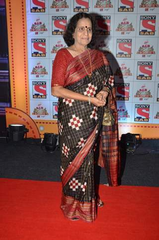 Usha Nadkarni poses for the media at SAB Ke Anokhe Awards