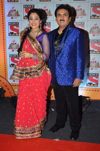 Dilip Joshi and Disha Wakani at SAB Ke Anokhe Awards