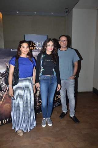 Alvira Khan, Sneha Ullal and Atul Agnihotri at Screening of Bahubali