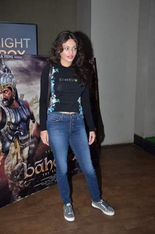 Cute Sneha Ullal at Screening of Bahubali