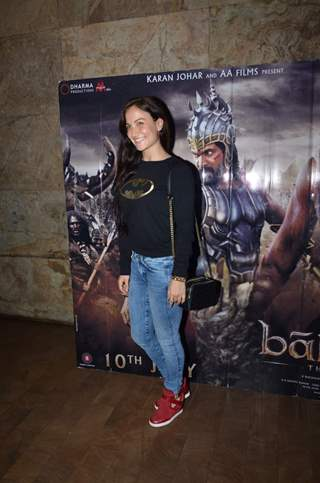 Elli Avram at Screening of Bahubali