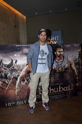 Varun Dhawan at Screening of Bahubali