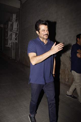Anil Kapoor was snapped at the Screening of Bahubali