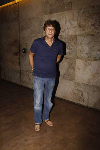 Chunky Pandey poses for the media at the Screening of Bahubali