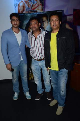 Adhyayan Suman and Shekhar Suman at Special Screening of Drishyam