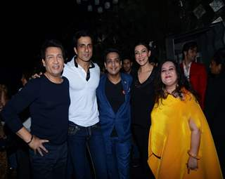 Shekhar Suman, Sonu Sood and Sushmita Sen at Pankita Sardani and Arun Sheshkumar's Bash