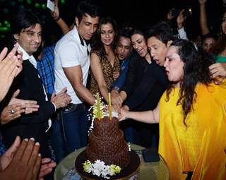 Cake Cutting Picture of Pankita Sardani and Arun Sheshkumar's Bash