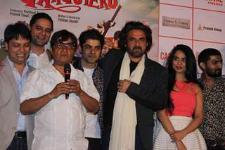 Brijendra Kala interacts with the audience at the Trailer Launch of Meeruthiya Gangsters