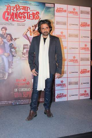 Mukul Dev poses for the media at the Trailer Launch of Meeruthiya Gangsters
