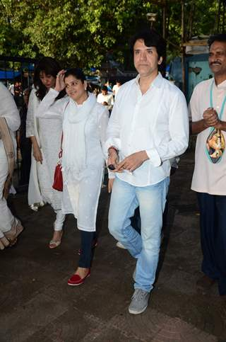 Sooraj Thapar at Prayer Meet of Shraddha Kapoor's Grandfather