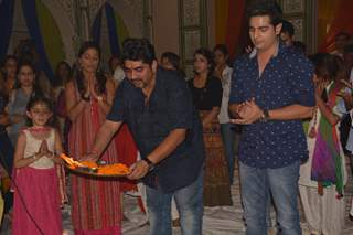 Rajan Shahi performs a pooja with his actors