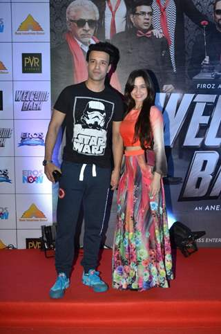 Aamir Ali and Sanjeeda Shaikh at Premiere of Welcome Back