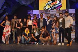 Contestants pose for the media at the Launch of Khatron Ke Khiladi 7