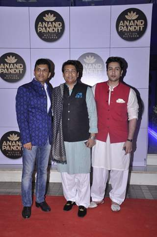 Shekhar and Adhyayan Suman at Anand Pandit's Diwali Bash