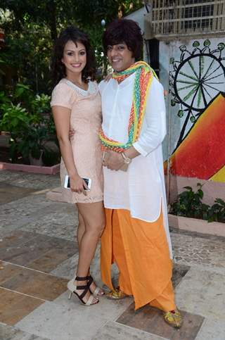 Nisha Rawal with Rohhit Verma at Kids Diwali Celebrations