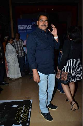 Sayaji Shinde at Premiere of Marathi Movie 'Natsamrat'