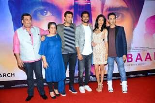 Sarah Jane Dias , Vicky Kaushal and Guneet Monga at Launch of Film 'Zubaan'