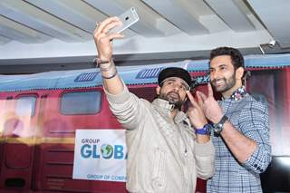 Nandish Sandhu and Mohammad Nazim at Launch of BCL's Ahmedabad Express Team