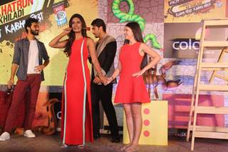 Arjun Kapoor, Raghav Juyal and Mukti Mohan at Press Meet of Khatron Ke Khiladi 7