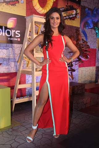 Mukti Mohan at Press Meet of Khatron Ke Khiladi 7
