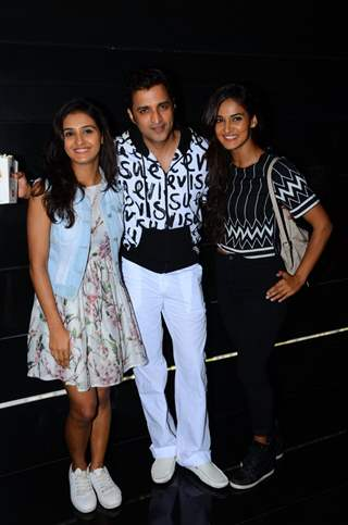 Ganesh Hegde with Shakti and Mukti Mohan at Special Screening of 'Tere Bin Laden: Dead or Alive'