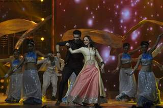 Aamir Ali and Sanjeeda Shaikh perform at 'Power Couple' Finale Shoot