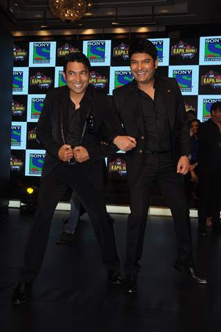 Kapil Sharma and Chandan Prabhakar at Launch of 'The Kapil Sharma Show'