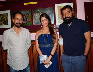Deepak Dobriyal, Aarti Chabria and Anurag Kashyap at Opening Ceremony of Osian's Cinefan Festival