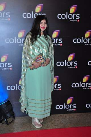 Alka Yagnik at Colors TV's Red Carpet Event